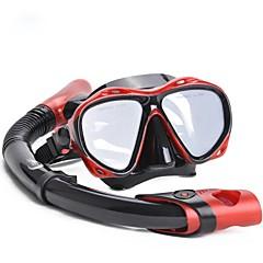 silikonová potápěčská potápěčská maska set potápěčská maska suchá šnorchlka pro šnorchlování&potápění ym366&ys03