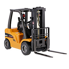 baratos Carros Controle Remoto-Carro com CR HUINA 1577 8 Canais 2.4G Empilhadeira / Veiculo de Construção 1:10 KM / H Controlo Remoto / Recarregável / Elétrico