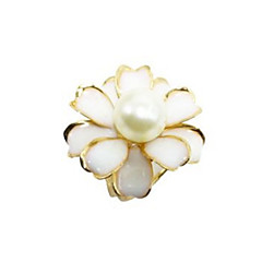 Women's Brooches Simple Elegant Alloy Flower Leaf Jewelry For Party Gift