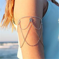 olcso -Női Testékszer Arm Chain Ötvözet Leaf Shape Ékszerek Kompatibilitás Napi Utca