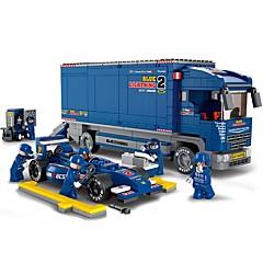Blue Lightening F1 אבני בניין צעצועים משאית משאית טרנספורטר מכונית מרוץ רכבים 644 חתיכות