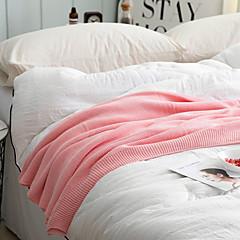 billiga Filtar och plädar-Super Soft, Handgjord Enfärgad Polyester filtar