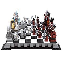 ビルディングブロックチェスゲーム教育玩具チェスブロックミニフィギュア玩具DIYキッズ作品