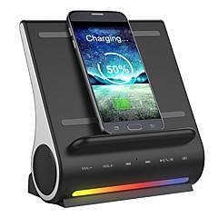 D100 Alto-falante Bluetooth Bluetooth 4.1 USB Espaço de Cartão TF Altofalante de Estante Preto