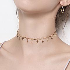billige Fine smykker-Dame Stjerne Kort halskæde  -  Afslappet Mode Guld Halskæder Til Fest Natklub