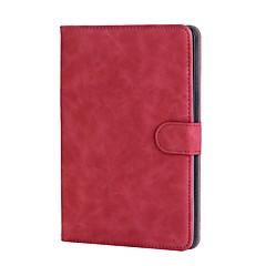 Capinha Para Apple iPad mini 4 Porta-Cartão Com Suporte Flip Auto Dormir/Despertar Corpo Inteiro Côr Sólida Rígida Couro Ecológico para