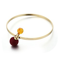 cheap Bracelets-Women's Charm Bracelet Imitation Pearl Simple Casual Fashion Zircon Copper Silver Plated Gold Plated Ball Jewelry Daily Going out Costume