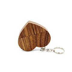 baratos Pen Drive USB-Ants 32GB unidade flash usb disco usb USB 2.0 De madeira Chaveiro Porta-Chaves / de madeira