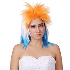 tanie Peruki syntetyczne-Peruki syntetyczne Gęstość Bez czepka Damskie Blond Halloween Wig Peruka imprezowa cosplay peruka Medium Włosy syntetyczne