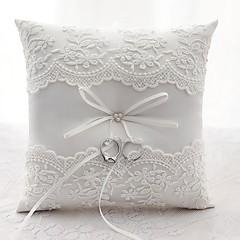זול טכס חתונה-סאטן תחרה כרית לטבעת חתונה כל העונות