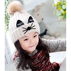 baratos Acessórios para Crianças-Para Meninas Capéus e Bonés Inverno Suéter Rosa Bege