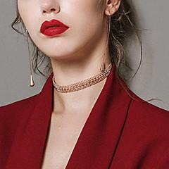 billige Fine smykker-Dame Sej Kort halskæde  -  Vintage Mode Guld Halskæder Til Bar Natklub