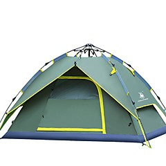 billige Telt og ly-GAZELLE OUTDOORS 3-4 personer Kanapetelt Strandtelt Lytelt Skjermtelt Telt Dobbelt camping Tent Ett Rom Automatisk Telt Vandring til