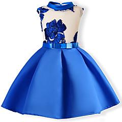 お買い得  女児 ドレス-子供 幼児 女の子 甘い パーティー フラワー パッチワーク 刺繍 ノースリーブ ドレス