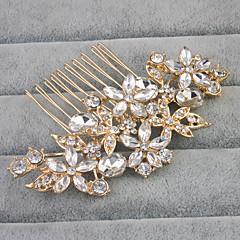 Χαμηλού Κόστους Αξεσουάρ κεφαλής για πάρτι-Κράμα Κομμάτια μαλλιών με Τεχνητό διαμάντι / Κρυσταλλάκια 1pc Γάμου / Καθημερινά Ρούχα Headpiece