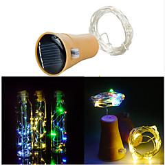 Χαμηλού Κόστους Φωτιστικά LED-1m Φώτα σε Κορδόνι 10 LEDs SMD 0603 Θερμό Λευκό / Ψυχρό Λευκό Ηλιακής Ενέργειας / Αδιάβροχη / Διακοσμητικό Încărcare Solară 1pc