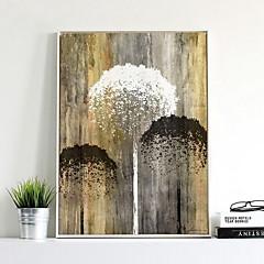 billige Innrammet kunst-Botanisk Olje Maleri Veggkunst,Legering Materiale med ramme For Hjem Dekor Rammekunst Soverom Spisestue