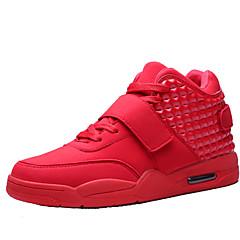 Homens sapatos Courino Primavera Outono Cadarço para Casual Branco Preto Vermelho
