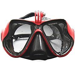 baratos -Kits para Snorkeling Máscaras de mergulho Pacotes de Mergulho Impermeável Anti-Nevoeiro Mergulho Borracha Silicone Vidro Temperado