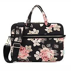 billiga Laptop Bags-13.3 14.1 15,6 tums ros mönster bärbar dator axelväska med rem handväska för yta / dell / hp / samsung / Sony etc