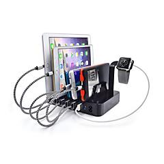 Nabíječka USB 6 Porty Stolní nabíjecí stanice S vypínačem (es) Dock stand Nabíjení adaptéru