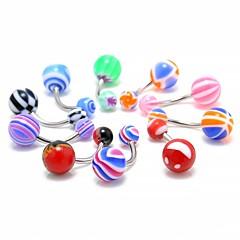 tanie Piercing-Damskie Biżuteria Pierścień pępka / piercing brzucha Akrylowy Akrylowy Nierdzewny Circle Shape Kropla Urocza Słodkie Biżuteria kostiumowa