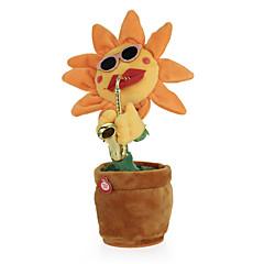 baratos -flor de dança florente encantador com saxofone brinquedos de pelúcia macios brinquedos elétricos engraçados para crianças presente