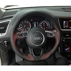 billige Rattovertrekk til bilen-bil ratt deksler (lær) for audi alle år a1 q5 q7 q3 a3 a4l a6l