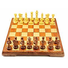 tanie Gra w szachy-Szachy Zabawki Rodzina Magnetyczne Zawody XL Interakcja rodziców i dzieci Drewniany Dla dziewczynek Dla chłopców Prezent 32pcs