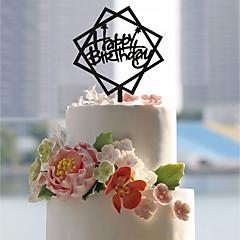 billige Kakedekorasjoner-Kakepynt Asiatisk Tema Romantik Bryllup Akryl Euro-Amerikansk Plast Bursdag Dagligdagstøy med Akryl Sløyfer Trimmer 1 OPP