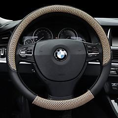 billige Rattovertrekk til bilen-Rattovertrekk til bilen 38 cm Beige / kaffe / Svart / Rød For Universell General motors Alle år