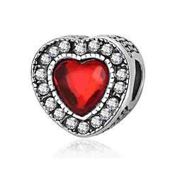 tanie Koraliki i tworzenie biżuterii-Biżuteria DIY 1 szt Korálky Kryształ Stop Silver Serce Koralik 0.2 cm majsterkowanie Naszyjniki Bransoletki