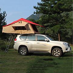 billige Telt og ly-Deerke 2 personer Dobbelt camping Tent To Rom Familietelt Vindtett Regn-sikker Langrenn varmelagrende til Camping / Vandring / Grotte