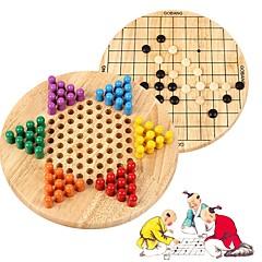 tanie Gra w szachy-Szachy Rodzina Interakcja rodziców i dzieci Drewniany Dla dziewczynek Prezent 130pcs
