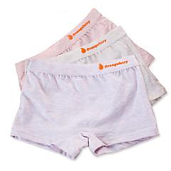 billige Undertøj og sokker til piger-3 Dele Børn Pige Simple Ensfarvet Bomuld Undertøj og strømper Grå