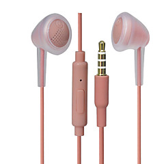 billiga Headsets och hörlurar-PHB SIP-1314 EARBUD Kabel Hörlurar Dynamisk Plast Pro Audio Hörlur Med volymkontroll / mikrofon headset