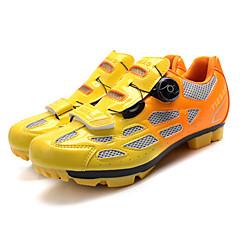 billige Sykkelsko-Tiebao® Voksne Mountain Bike-sko Nylon Pustende, Anti-Skli, Demping Sykling Svart / Grønn / Svart / Blå / Svart / Oransje Herre Sykkelsko / Ventilasjon / Syntetisk Mikrofiber PU / Ventilasjon