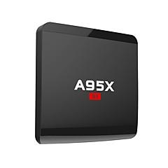 billige TV-bokser-A95X Android7.1.1 TV-boks Amlogic S905W Quad Core ARM Cortex A53 @2GHz 1GB RAM 8GB ROM Kvadro-Kjerne