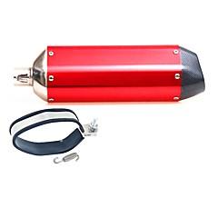 tanie Części do motocykli i quadów-32mm węgla tłumik wydechowy tłumik ciszy dla motocykla suzuki dirt pit 125 150cc