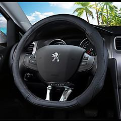 billige Rattovertrekk til bilen-Rattovertrekk til bilen ekte lær 38 cm Blå / Svart / Svart / Rød For Peugeot 308 2012 / 2013 / 2014