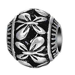 baratos Miçangas & Fabricação de Bijuterias-Jóias DIY 1 pçs Contas Liga Prata Oval Bead 0.2 cm faça você mesmo Colar Pulseiras