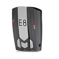 E8 Car Radar Detector 360 Degree 16 Band Speed Safety Anti-Police Scanning Advanced Voice Alert Laser LED