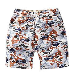 baratos Roupas de Meninos-Para Meninos Shorts camuflagem Primavera Verão Azul Verde Laranja Amarelo Verde Tropa