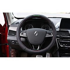 billige Rattovertrekk til bilen-Rattovertrekk til bilen ekte lær 38 cm Brun / Rød / Svart / Rød For Borgward BX7 Alle år