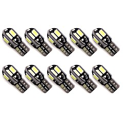 hesapli -10pcs led canbus hatası ücretsiz t10 5630 otomatik park lambaları w5w 8smd led araba kama kuyruk yan ampüller okuma lambaları dc12v