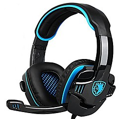 cheap Headsets & Headphones-SADES 708GT Headband Wired Headphones Piezoelectricity Plastic Gaming Earphone with Microphone Stereo Headset