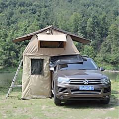 billige Telt og ly-Deerke 2 personer Dobbelt camping Tent To Rom Familietelt Vindtett Regn-sikker varmelagrende til Camping / Vandring / Grotte Udforskning