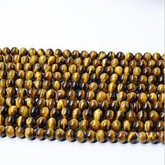 tanie Koraliki i tworzenie biżuterii-Biżuteria DIY 65 szt Korálky Kryształ Yellow Zaokrąglanie Koralik 0.6 cm majsterkowanie Naszyjniki Bransoletki