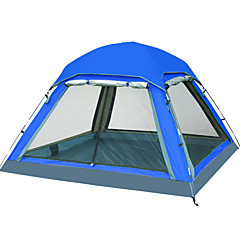 billige Telt og ly-3-4 personer Telt Skjermtelt Skjermhus Enkelt camping Tent Ett Rom Vanntett Ultraviolet Motstandsdyktig til Camping Reise CM