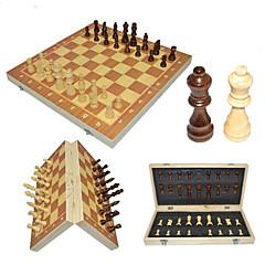 Χαμηλού Κόστους Παιχνίδια Σκάκι-Παιχνίδι σκάκι Οικογένεια Μαγνητική Αλληλεπίδραση γονέα-παιδιού Ξύλινος Αγορίστικα Κοριτσίστικα Παιχνίδια Δώρο 32 pcs